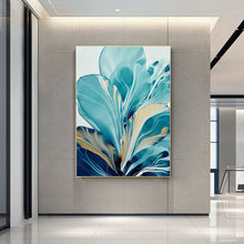 Load image into Gallery viewer, Flower Big Leaf Splash Abstract Wall Art - decoratebyyou