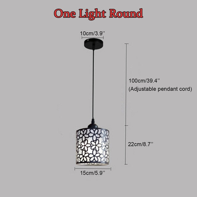Modern iron Hollow Out Hanging Pendant Lamp - decoratebyyou