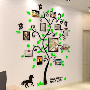 3D Family Tree Wall Sticker - decoratebyyou