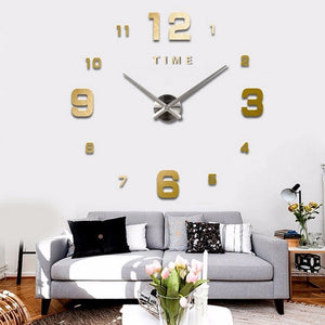 3D DIY Large Wall Clock - decoratebyyou