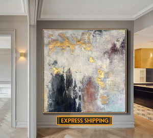Oversize Abstract Painting On Canvas - decoratebyyou