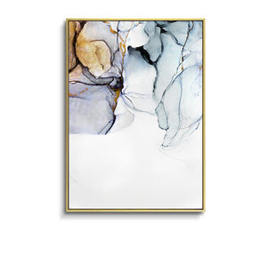 Morden Abstract Blue-gray line Wall Art Canvas - decoratebyyou