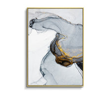 Load image into Gallery viewer, Morden Abstract Blue-gray line Wall Art Canvas - decoratebyyou