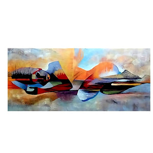 Watercolor Lord Buddha Abstract Oil Painting on Canvas - decoratebyyou