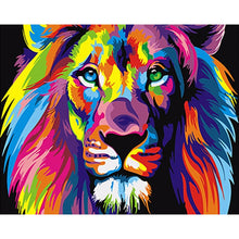 Load image into Gallery viewer, Frameless Colorful Lion Abstract Painting - decoratebyyou