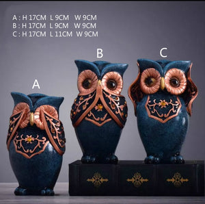Owl Family Figurines - decoratebyyou