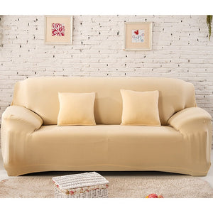 Elastic White Sofa Cover - decoratebyyou