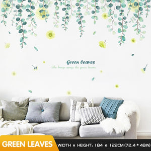 Fresh leaves wall stickers self-adhesive - decoratebyyou