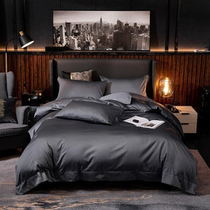 Grey Hotel Quality Silky Soft Egyptian Cotton Bedding set - decoratebyyou