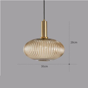 Electroplated Gold Green Glass Pendant Lights - decoratebyyou