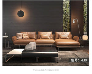 leather modern minimalist living room furniture - decoratebyyou