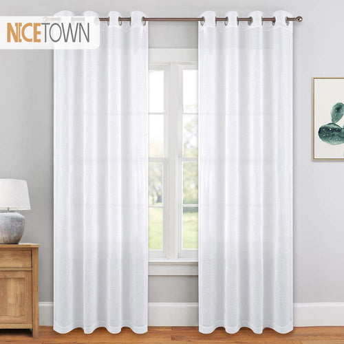 1 Pair  Voile White  Panels - decoratebyyou