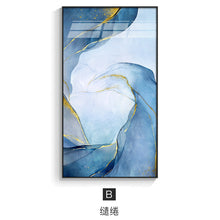 Load image into Gallery viewer, Indigo and Blue Clouds Wall Canvas - decoratebyyou