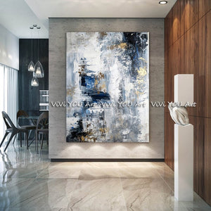 Modern abstract hand painted oil painting - decoratebyyou