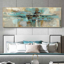 Load image into Gallery viewer, Modern Turquoise Abstract Canvas Painting - decoratebyyou