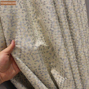 Custom curtains  jacquard  dots - decoratebyyou