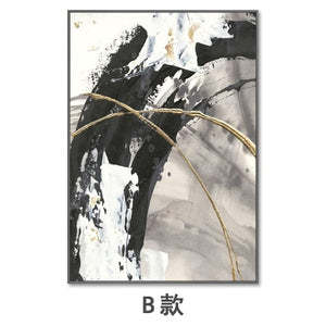 Hand painted Modern Abstract canvas - decoratebyyou