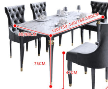 Load image into Gallery viewer, Light luxury post-modern American marble solid wood dining table and chair combination - decoratebyyou