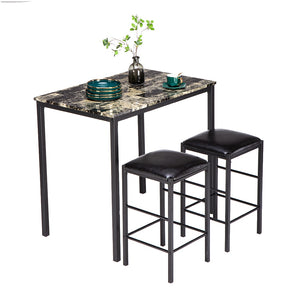 Marble Face High Dining Table and Chair - decoratebyyou