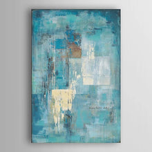 Load image into Gallery viewer, Canvas Art Oil Painting Turquoise Blue - decoratebyyou