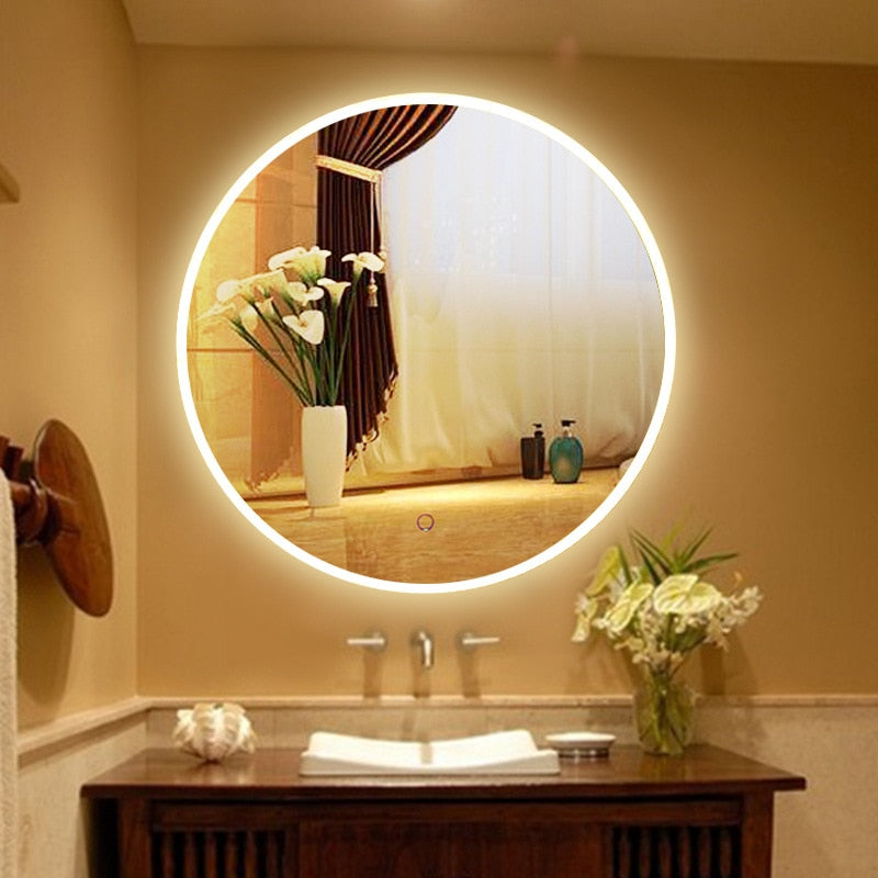 HD Round Smart Bathroom Mirror - decoratebyyou