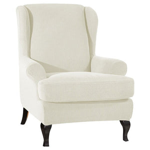 Solid Color Arm Back Chair Cover - decoratebyyou