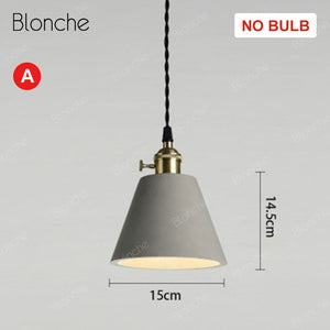Modern Pendant Lights Loft Cement - decoratebyyou