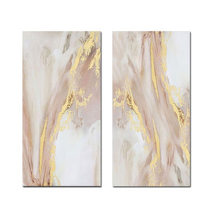 2 Pcs Hand Painted Abstract Oil Painting on Canvas - decoratebyyou
