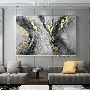 Abstract Oil Painting On Canvas - decoratebyyou