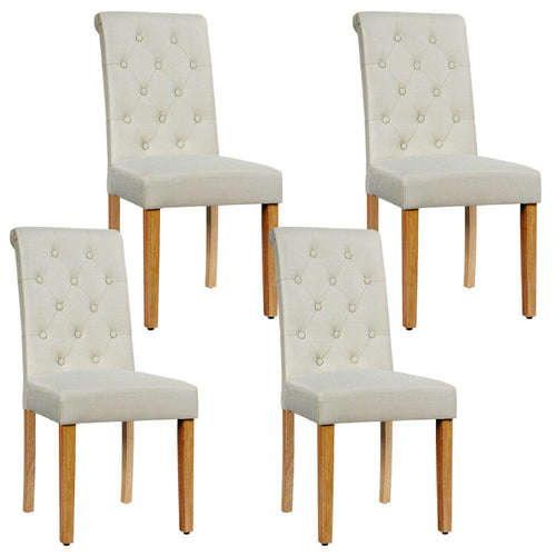Set of 4 Tufted Dining Chairs - decoratebyyou