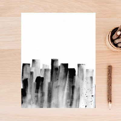 Abstract Graffiti Ins Black and White - decoratebyyou
