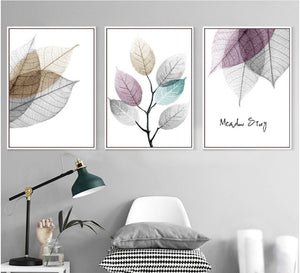 Modern Simple Small Fresh Leave 3 Pieces - decoratebyyou