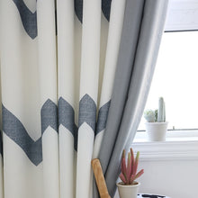 Load image into Gallery viewer, Striped Mosaic Window Curtain - decoratebyyou