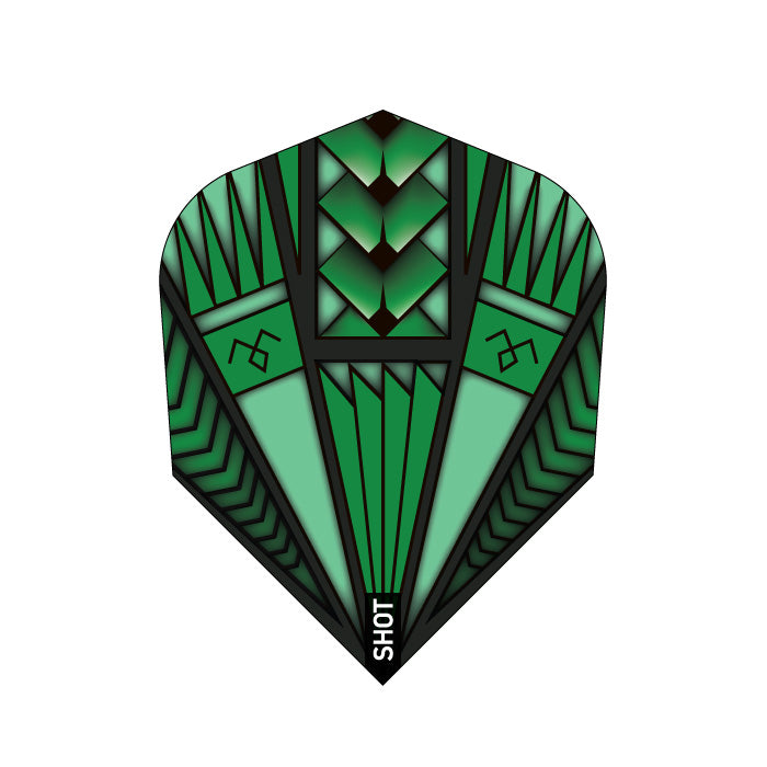Armour Green Dart Flight Set-Small Standard