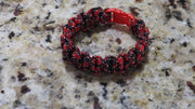 Red and black and white bracelet 61/2 inch wrist