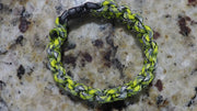 Bracelet  6 1/2 inch  lime ,gray,black