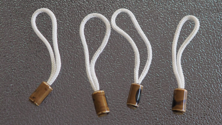 paracord white zipper pulls with ceramic beads