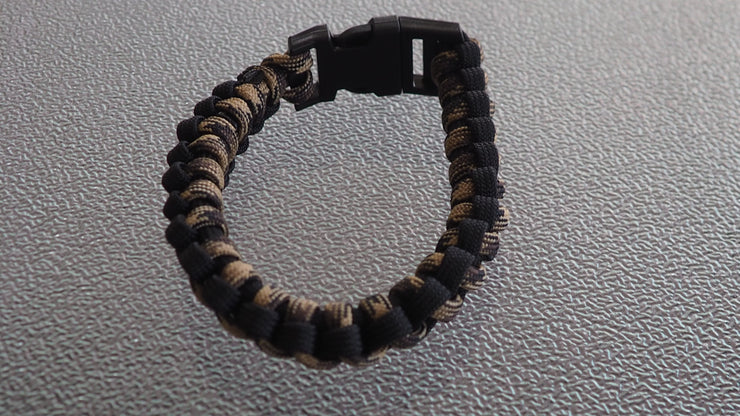 Paracord  bracelet. brown,black 8 inches