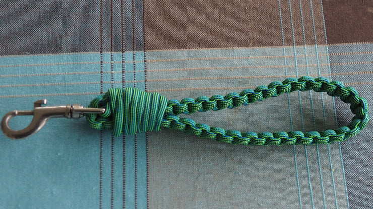 Lanyard green with key holder