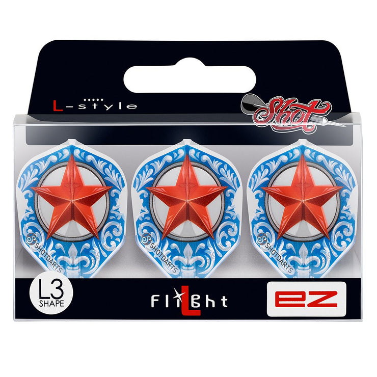 Shot Darts L-Style L3 EZ Shape-Wild Frontier Trailblazer Dart Flights