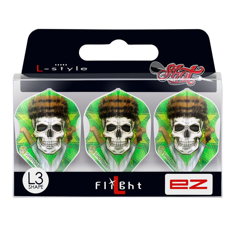 Shot Darts L-Style L3 EZ Shape-Wild Frontier Trapper Dart Flights