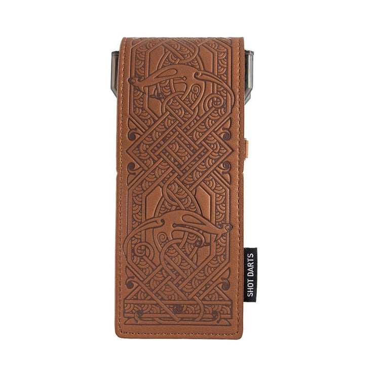 Shot Darts Insignia Dart Case -Viking Brown with Choco Detailing