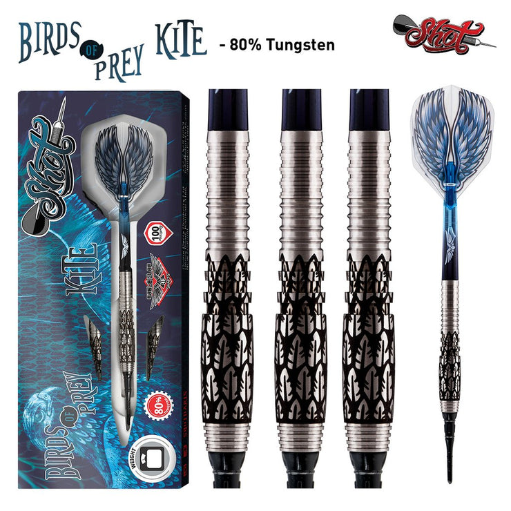 Birds of Prey Kite Soft Tip Dart Set