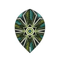 Talisman Teal Dart Flight Set-Teardrop.