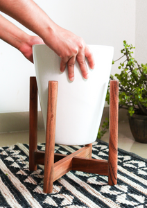 "Tapered 10"" Planter with Stand"
