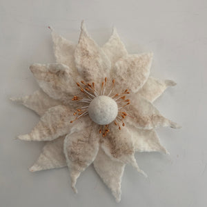 white flower pin Grace Rose Designs