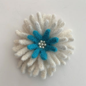 White and Blue Flower F195