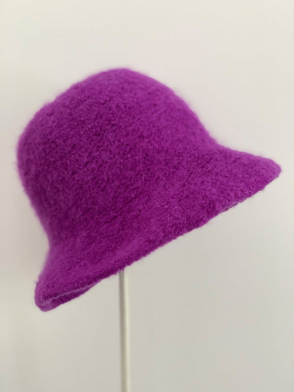 small purple winter hat