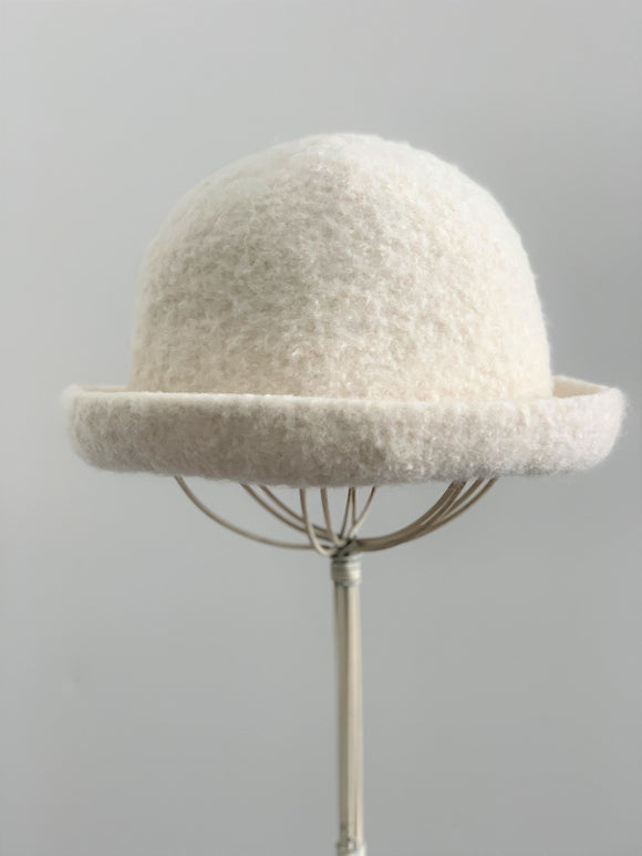 small white wool hat