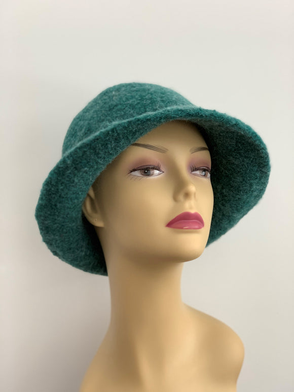 pine green wool hat